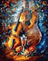 Картины по номерам 40х50 Музыка в красках