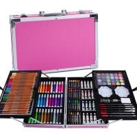 Набор для творчества в металлич. чемодане, розовый