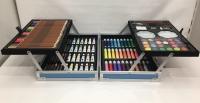 Набор для творчества в металлич. чемодане, синий