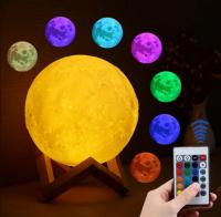 Ночник-светильник с пультом 3D 12 см