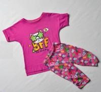 """Пижама для девочки """"Котик"""" розовая 92 светится в темноте"""