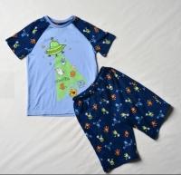 """Пижама для мальчика """"Инопланетные гости"""" 116 светится в темноте"""