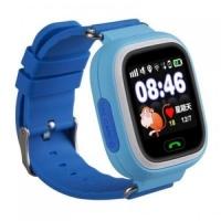 Детские умные часы Q90 (G72) сенсор голубые