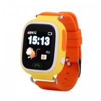 Детские умные часы Q90 (G72) сенсор жёлтые