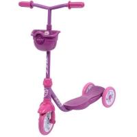 Самокат Foxx Baby с пластиковой платформой и EVA колесами 115мм, корзинка, роз.