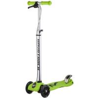 Самокат макси Novatrack RainBow, подростковый, ручной тормоз, свет.колеса,max 60кг, зеленый
