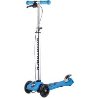 Самокат макси Novatrack RainBow, подростковый,ручной тормоз, свет.колеса,max 60кг, голубой