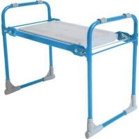 Садовая скамейка-перевертыш, складная, голубой каркас