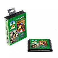 Картридж Sega 16b 2in1 SK211(TazMan+SimpsK) SK