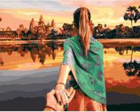 Картины по номерам 40х50 Следуй за мной. Камбоджа