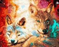 Картины по номерам 40х50 Созвездие волков