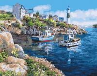 Картины по номерам 40х50 Стоянка у бухты