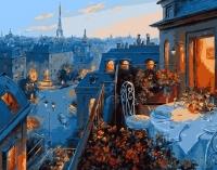 Картины по номерам 40х50 Свидание в Париже