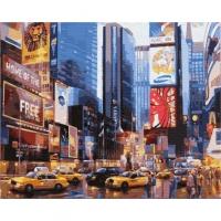 Картины по номерам 40х50 Таймс сквер. Нью-Йорк