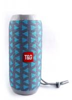 Bluetooth-колонка TG-117 серо-бирюзовая
