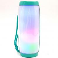 Bluetooth-колонка TG-157 зеленая, с подсветкой