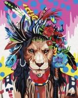 Картины по номерам 40х50 Тотемный лев