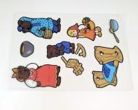 Трафарет теневой «Три медведя»
