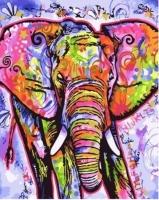 Картины по номерам 40х50 Цветной слон