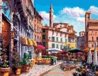 Картины по номерам 40х50 Цветочный квартал (GX 26681)