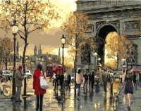 Картины по номерам 40х50 Вечерняя арка