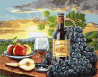Картины по номерам 40х50 Виноградный натюрморт