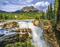 Картины по номерам 40х50 Водопад Санвапта, Канада