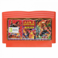 Картридж аналог денди 3в1 YH 8013 DOUBLE DRAGON 2+3+4