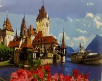 Картины по номерам 40х50 Замок и яхта