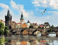 Картины по номерам 40х50 Знаменитые мосты Праги