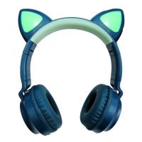 Беспроводные наушники Wireless Headphones Cat Ear зеленые