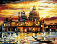 Картины по номерам 40х50 Золотое небо Венеции