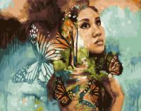 Картины по номерам 40х50 Девушка и бабочки (худ. Димитри Милан)