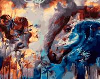 Картины по номерам 40х50 Девушка и конь (худ. Димитра Милан)