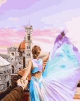 Картины по номерам 40х50 Следуй за мной. Флоренция. Италия