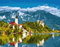Картины по номерам 40х50 Альпийская деревня