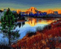 Картины по номерам 40х50 Снежная гора