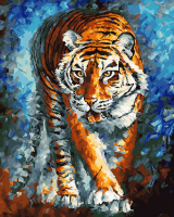 Картины по номерам 40х50 Голодный тигр