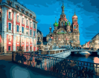 Картины по номерам 40х50 Храм Спаса-на-крови. Санкт-Петербург (GX 29377)