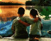 Картины по номерам 40х50 Дружба на берегу