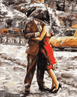 Картины по номерам 40х50 Любовь под дождем
