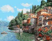 Картины по номерам 40х50 Итальянский городок