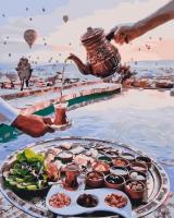 Картины по номерам 40х50 Завтрак на берегу