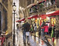 Картины по номерам 40х50 Прогулка после дождя