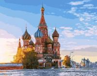 Картины по номерам 40х50 Москва. Собор Василия Блаженного