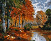 Картины по номерам 40х50 Осенний парк