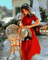 Картины по номерам 40х50 Дама с шляпкой