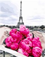 Картины по номерам 40х50 Сочные бутоны в Париже