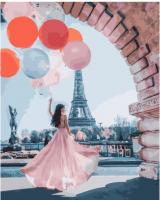 Картины по номерам 40х50 Париж в нежных тонах