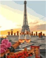 Картины по номерам 40х50 Бокалы в Париже
